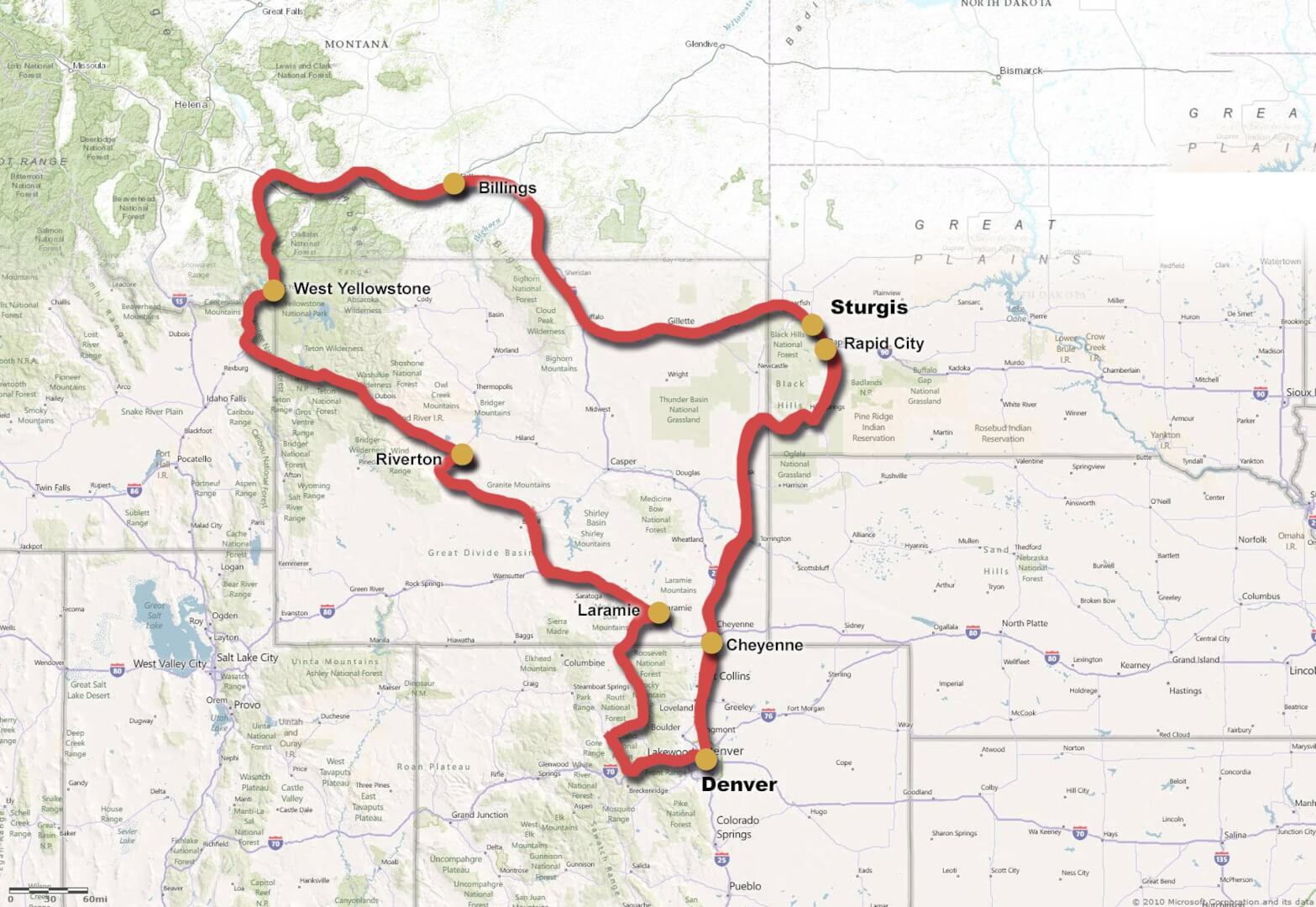 Mc Rejser Rocky Mountain Yellowstone Little Big Horn Og Sturgis